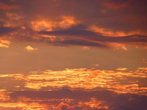 abendstimmung sunset sky