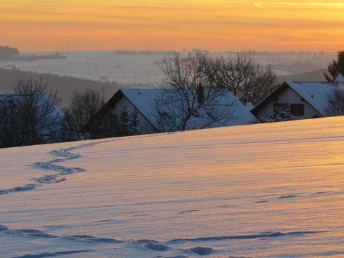 abendstimmung winter mood cozy