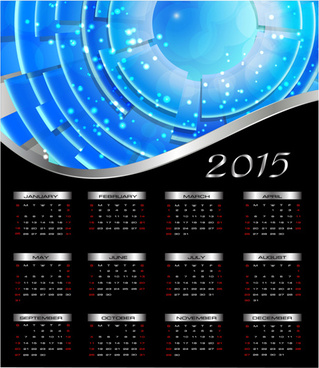 abstract15 calendar vector illustration