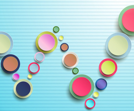 abstract 3d circle background