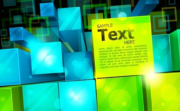 abstract 3d squares background colorful sparkling style