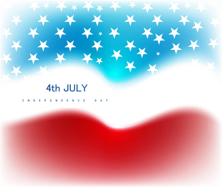 abstract 4th july american independence day vector