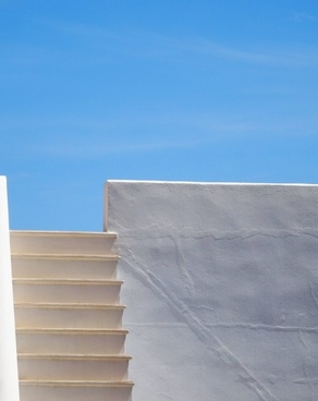 abstract architecture art blank blue sky building