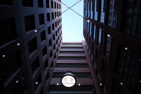 abstract architecture art bridge building city dark