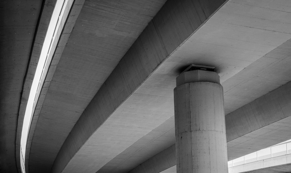 abstract architecture black and white bridge building
