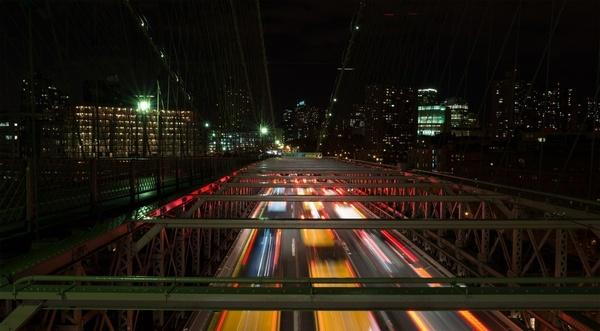 abstract architecture blur bridge building car city