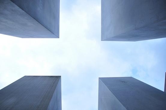 abstract architecture building concrete corner cube