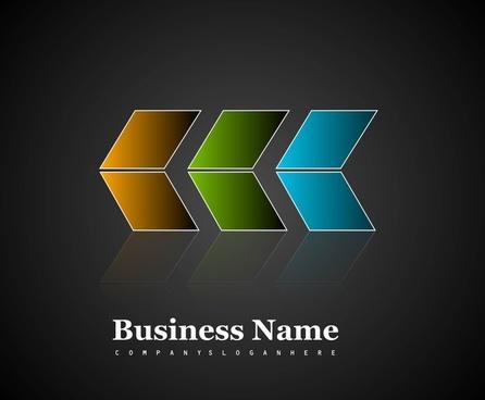 abstract arrow shiny business icon vector