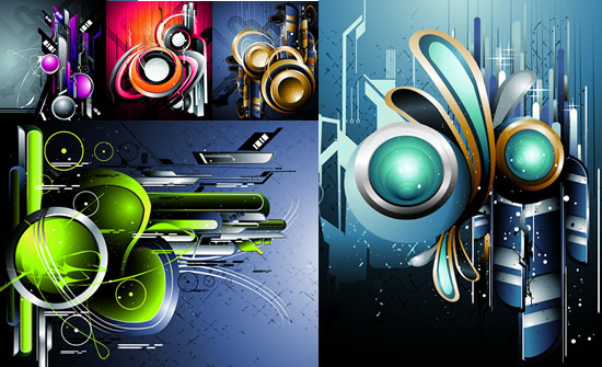 abstract art background design vector