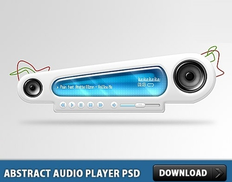 Abstract Audio Player Free PSD