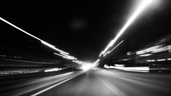 abstract auto black and white blur car city dark