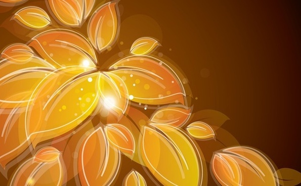 leaves background sparkling golden decoration