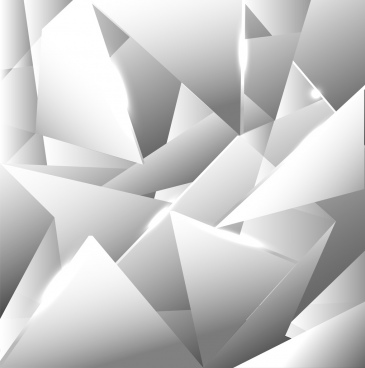 abstract background 3d silver sharp decoration