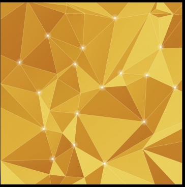 abstract background 3d sparkling yellow polygonal design