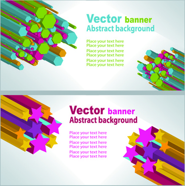 Abstract Background Banner Vector Graphics