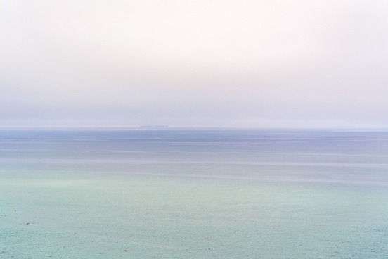 abstract background beach calm coast fog horizon