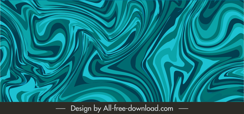 abstract background blue deformed illusion decor