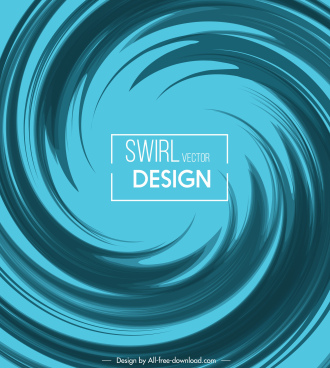 abstract background blue modern dynamic twisted shape decor