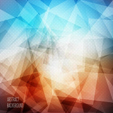 abstract background bright colorful polygonal ornament