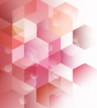 abstract background bright pink low poly bokeh decoration