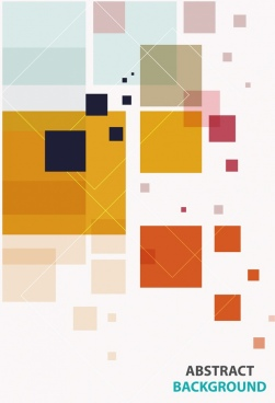 abstract background colored squares decoration