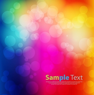 abstract background colorful bokeh light vector illustration