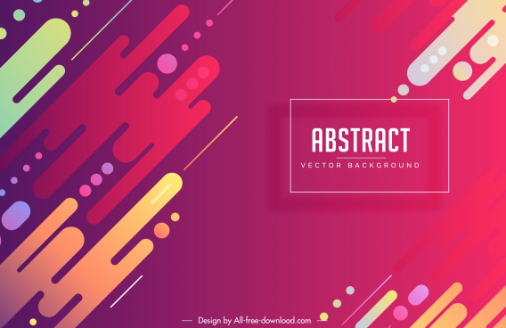 abstract background colorful flat decor