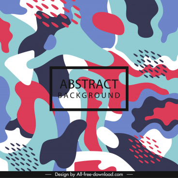 abstract background colorful flat deformed shapes decor