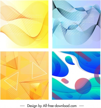 abstract background colorful flat dynamic geometric swirl decor