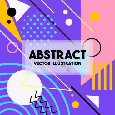 abstract background colorful geometric decor