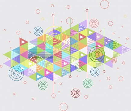 abstract background colorful geometric decoration