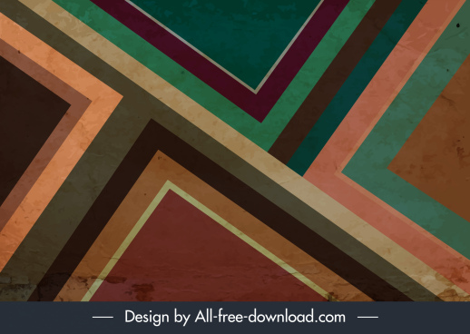 abstract background colorful retro grunge flat geometric layout