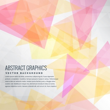 abstract background colorful triangles decoration