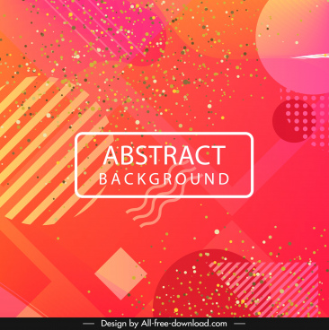 abstract background confetti decor modern flat geometry