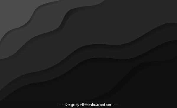 abstract background dark black curves sketch