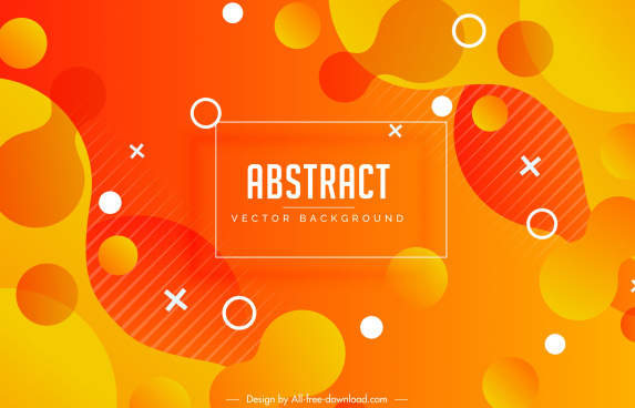 abstract background flat orange deformed circles decor