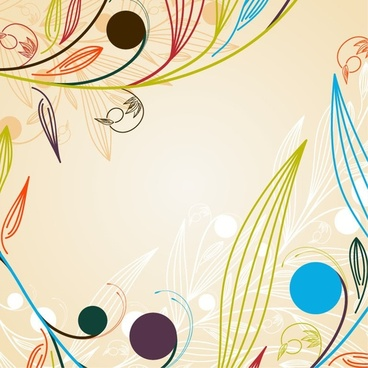 Abstract Background Floral Vector Graphic
