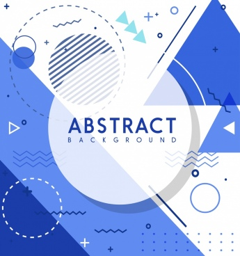 abstract background geometric design blue white decor