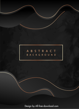 abstract background golden curves decor elegant dark design