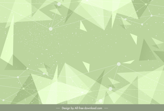 abstract background green dynamic triangles 3d
