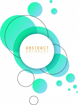 abstract background green flat circles sketch
