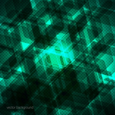 abstract background green hexagon silhouette decoration