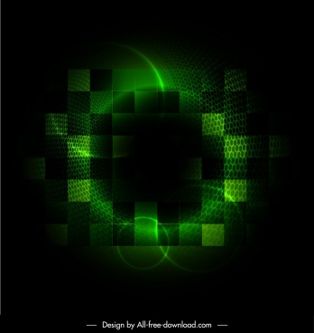 abstract background green light effect blurred squares isolation