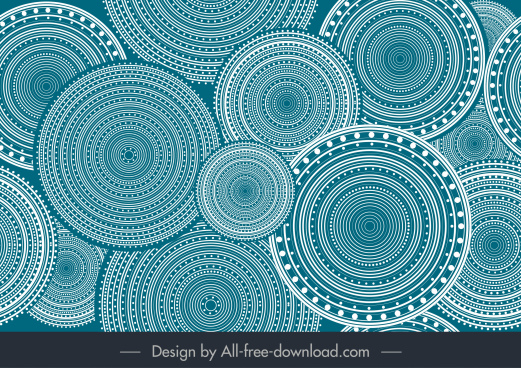 abstract background illusive circles decor