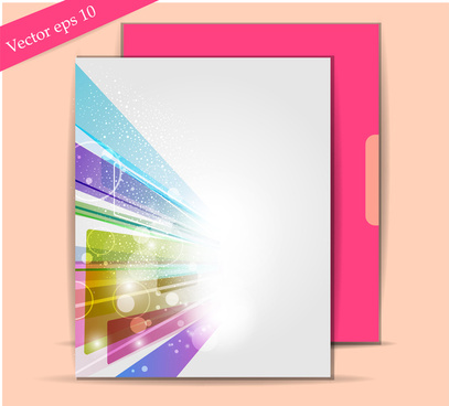 abstract background leaflet