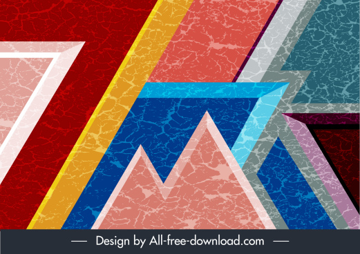 abstract background modern colorful flat geometric sketch