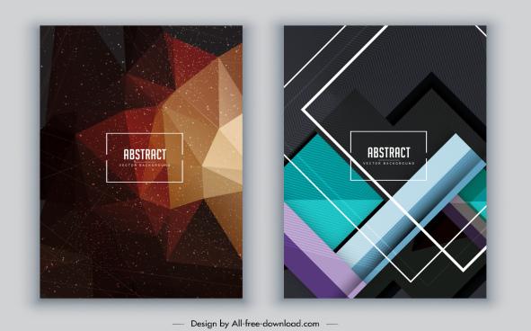 abstract background modern dark geometric decor