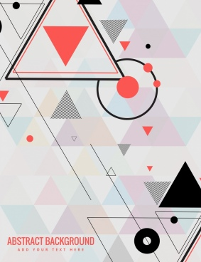 abstract background modern design triangles circles decor
