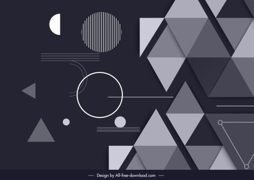 abstract background modern flat geometric decor