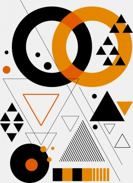 abstract background modern geometric design circles triangles decor